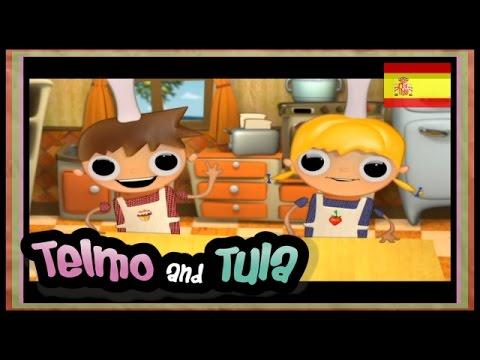 Telmo y Tula - Tostadas de Manzana - Recetas Telmo y tula  serie de animación...