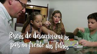 Riscos de desautorizar os pais na frente dos filhos