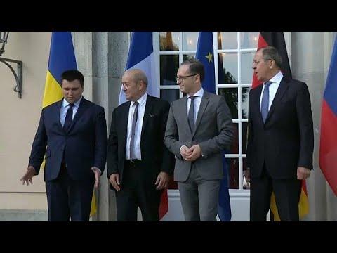 Ostukraine-Gespräche der Außenminister der Ukraine, R ...