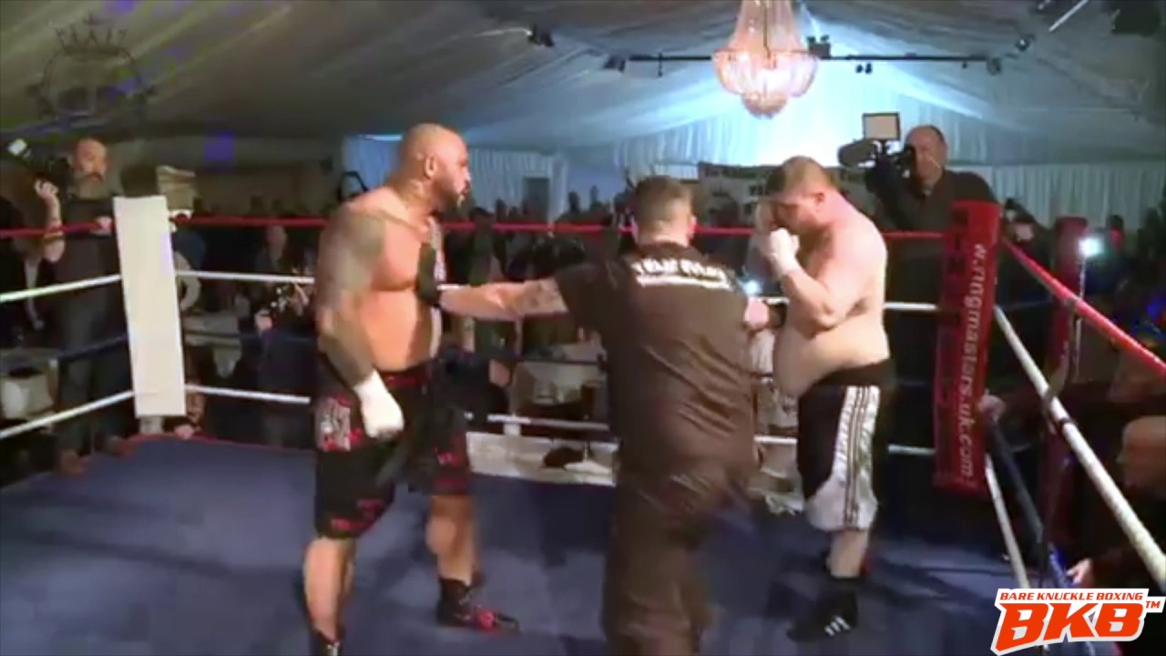 HEAVYWEIGHT BARE KNUCKLE FIGHT DOUBLE KNOCKDOWN * EXCLUSIVE *
