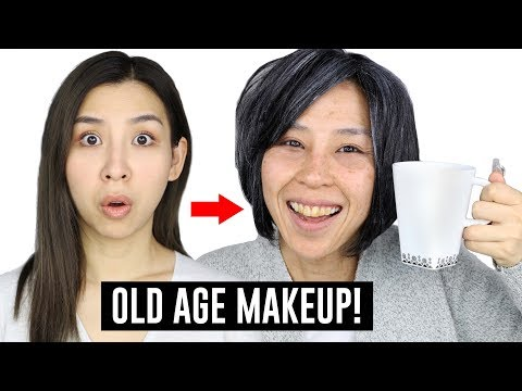 Old Age Makeup Transformation! (видео)