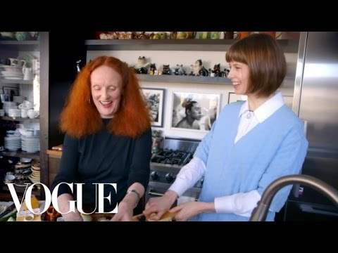 vogue - Creative Director of Vogue, Grace Coddington, joins Elettra Wiedemann to cook a hearty meal of steak and potatoes dauphinois in Grace's home kitchen. NOTE: T...