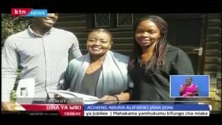 Dira ya Wiki: Mwanamziki Achieng' Abura aaga dunia katika hospitali kuu ya Kenyatta, 21/10/16