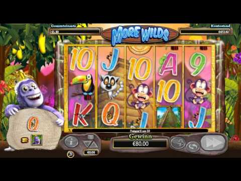 Gorilla Go Wild Slot - More Wilds Feature - Big Win
