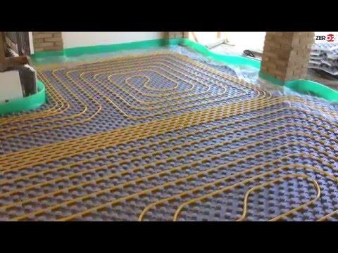 Montaggio Impianto di riscaldamento a pavimento con massetto