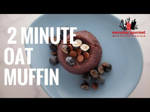 Blackmores Greek Yoghurt Banana and Blueberry 2 Minute Oat Muffin | Everyday Gourmet S6 EP49