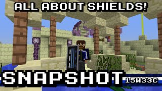 Minecraft: 15w33c - Shields! Crafting, decoration, and defense