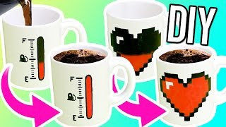 DIY COLOR CHANGING MUGS! Make magic mugs for gifts! - YouTube