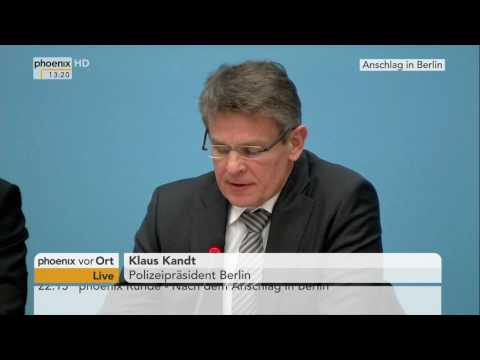 Terror-Anschlag in Berlin: Pressekonferenz im Berli ...