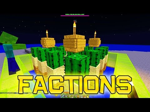 Minecraft: FACTIONS Ep. 5 – How To Build A Basic Cactus Farm!