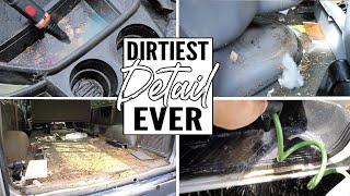 Video Cleaning The Dirtiest Car Interior Ever! Complete Disaster Full Interior Car Detailing Work Truck MP3, 3GP, MP4, WEBM, AVI, FLV Juli 2019