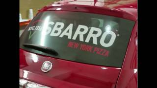 Sbarro finally bring their pizza to the northside...and we bring their signage