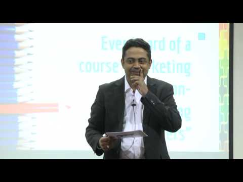 "Sunder Madakshira speaks at the NASSCOM Marcom Session in Bangalore on the topic ""Do You Count?"""