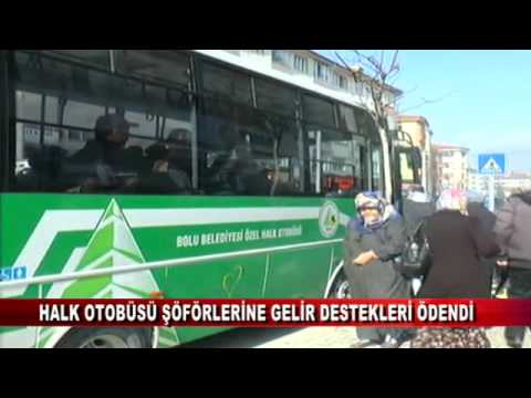 Halk otobüsü şoförlerine gelir destekleri ödendi