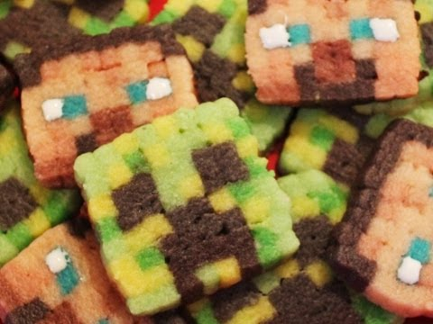 Cookies - In celebration of Minecon 2012 I decided to make Minecraft Steve and Creeper face cookies! I really love the pixel look these cookies have! try them out your...