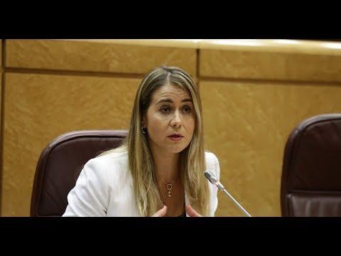 Sofía Acedo en la comparecencia del ministro Escrivá en el Senado.