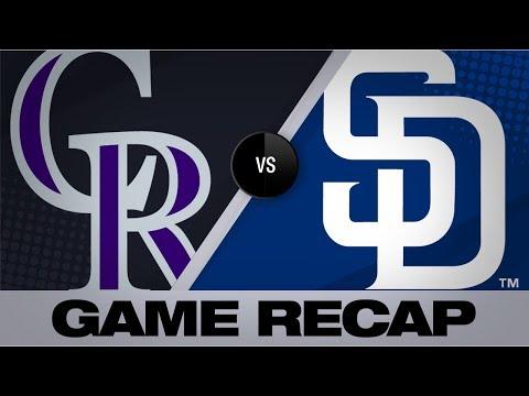 Video: Margot's late homer helps Padres top Rockies | Rockies-Padres Game Highlights 8/10/19