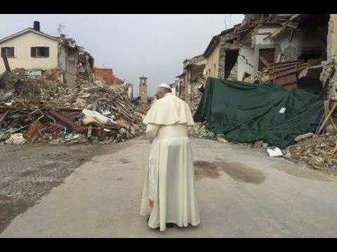la visita di papa francesco alle zone terremotate del centro italia