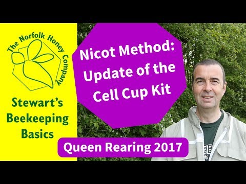 Nicot Update - Queen Rearing Using The Nicot Cell Cup Kit