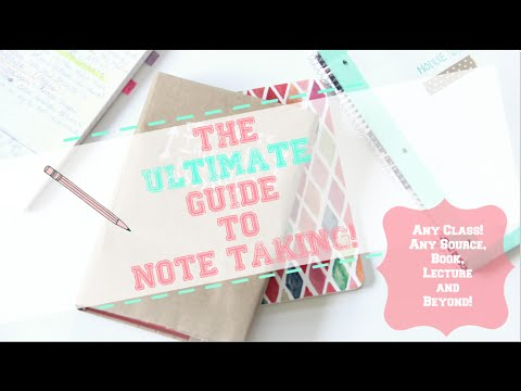How to: Take the BEST Notes! + Study Tips!