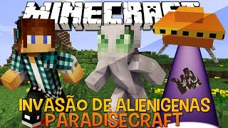 Invasão De Alienígenas !! #01 FantasyCraft - Minecraft