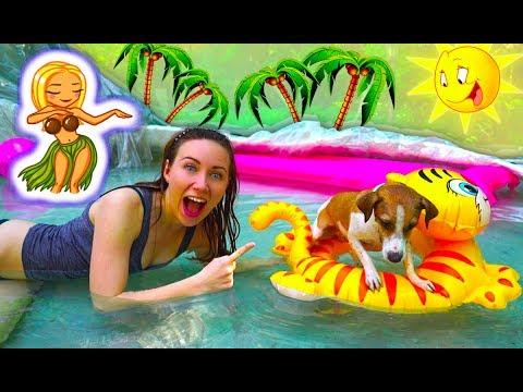 МОКРАЯ ВЕЧЕРИНКА БАССЕЙН ИЗ ПЛЕНКИ и СОБАКА ДЖИНА | Elli Di Pets (видео)