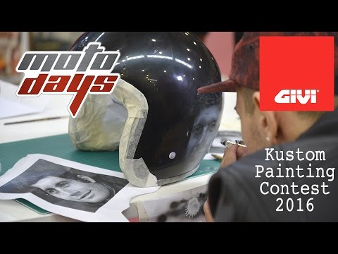 The aerograph painter contest in collaboration with Kustom Italy. Starring the fiber helmets GIVI 20.7 oldster which 20 artists have decorated according to different themes