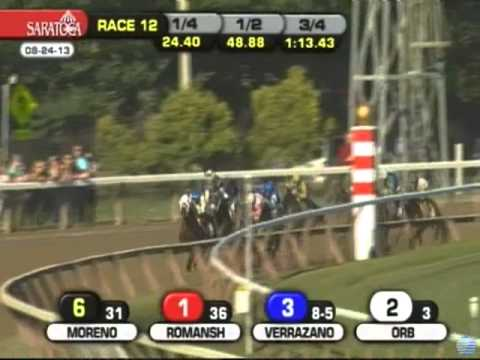 stakes - Will Take Charge noses out Moreno for the win in the Travers Stakes at Saratoga on August 24, 2013. Orb finished third and Palace Malice fourth.