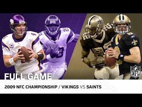 Video: 2009 NFC Championship Game: Minnesota Vikings vs. New Orleans Saints | NFL Full Game