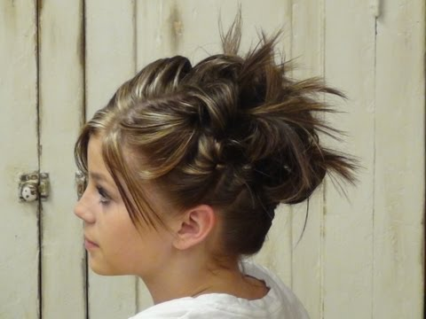 Cute Teen Up Do for Shorter Hair – Girls Hairstyles Tutorial