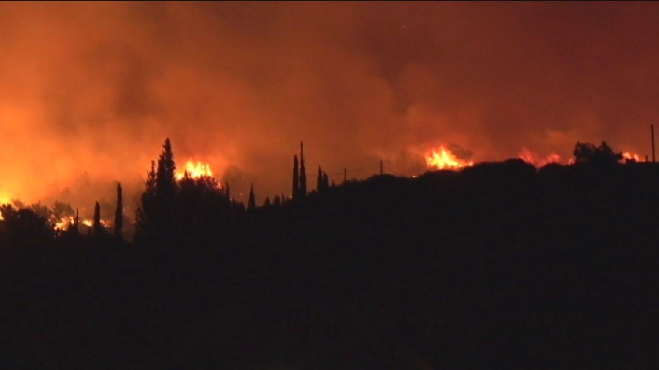 Φωτιά σε δασική έκταση στην περιοχή Κέδρος της Σάμου