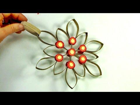 طريقة عمل زينة جميلة من المواد المستهلكة