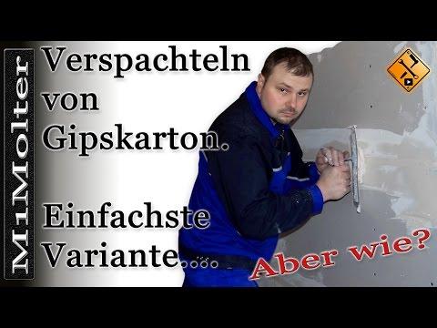 Gipskartonplatten spachteln Anleitung oder Verspachteln von Gipskartonplatten M1Molter
