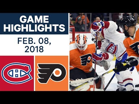 Video: NHL Game Highlights | Canadiens vs. Flyers - Feb. 8, 2018