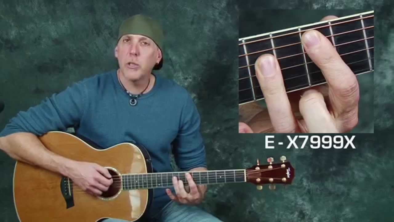 Acoustic guitar song lesson learn Live Lightning Crashes chords strum patterns rhythm techniques