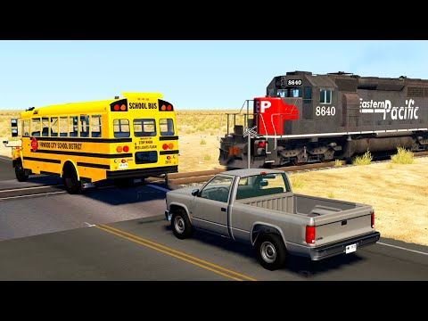 Train Close Calls & Near-Miss Accidents 3   BeamNG.drive
