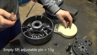 9. Changing TRA 3 primary clutch weight pins, on the Ski-doo rev mod! LWS ep.1