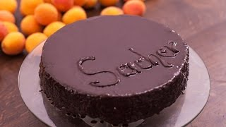 Sacher Torte - Chocolate Cake with Apricot Jam Filling Recipe by Home Cooking Adventure