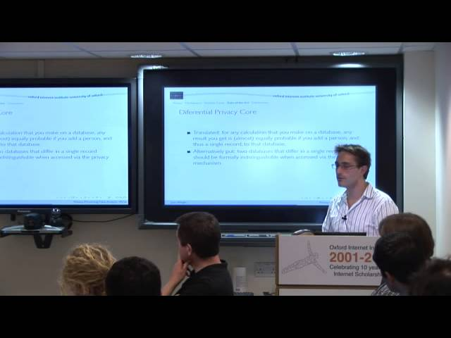 Privacy-Preserving Data Analysis - Mechanisms and Formal Guarantees (EINS Summer School 2012)
