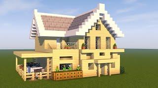 Minecraft Tutorial: How To Make A Suburban House | Minecraft Birch House | Tutorial