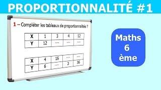 Maths 6ème - La proportionnalité 1 Exercice 2
