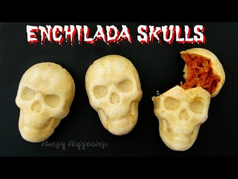 Enchilada Skulls - Fun Day of the Dead or Halloween Food