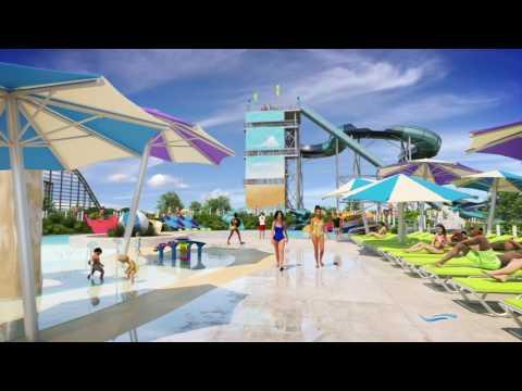 Cedar Point Shores Waterpark virtual animation (видео)