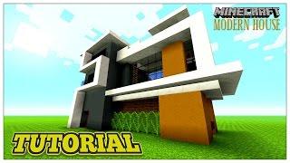 MINECRAFT TUTORIAL: MODERN HOUSE (STEP BY STEP) 2016