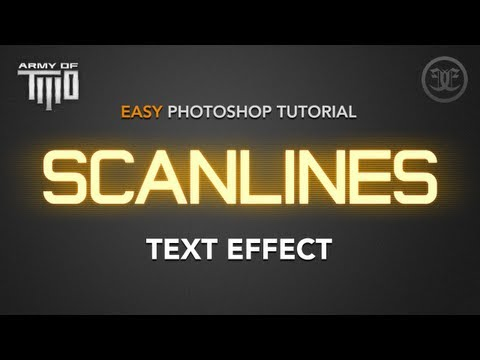 Easy Photoshop Tutorial: Glowing Scanlines Text Effect (Army of TWO hilight effect)