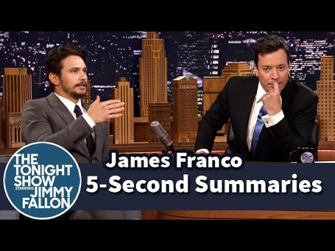 second - Jimmy and James Franco get a few seconds to summarize movie plots to get each other to guess the title. Part 1 of 2. Subscribe NOW to The Tonight Show Starring Jimmy Fallon: http://bit.ly/1nwT1aN...