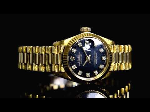 Lady's 18k Yellow Gold Rolex Datejust Automatic Wristwatch with Diamonds