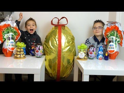 OEUF DE PÂQUES GEANT - Kinder Surprise Maxi Kung Fu Panda 3  - Unboxing Easter Kinder Surprise Egg