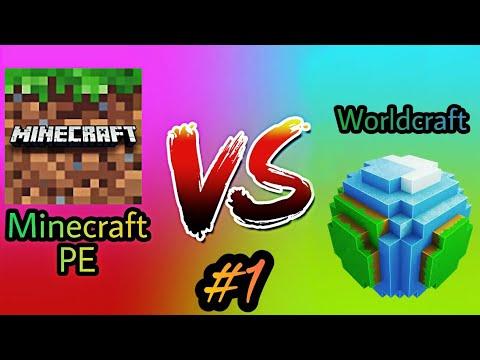 Minecraft PE VS Worldcraft 2 - Part 1