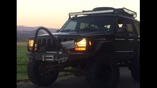 Here's a frequently requested video of my 50 inch light bar at night! Let me know if you would like to get your hands on one of these bad boys and I'll get you quite the deal! Lifetime warranty included.  Subscribe for regular Jeep videos!